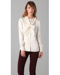 Tory Burch - White Waverly Blouse - Lyst