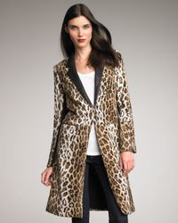 Elizabeth and James | Natural Foster Leather-lapel Coat | Lyst