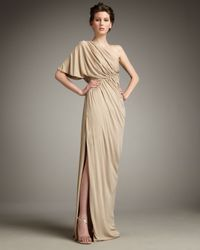 Robert Rodriguez | Natural Hannah Drape-shoulder Gown | Lyst