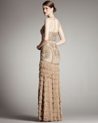 Robert Rodriguez - Natural Isabella Gown, Camel - Lyst