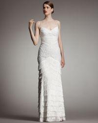 Robert Rodriguez White Isabella Textured Gown, Ivory