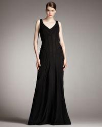 Robert Rodriguez | Black Morgan V-neck Gown | Lyst