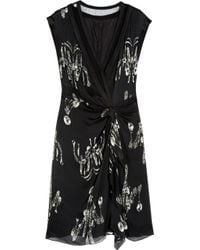 Alberta Ferretti | Black - Beaded Lace Dress - Women - Silk/cotton/polyamide/rayon - 40 | Lyst
