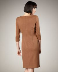Bigio Collection - Brown Three-quarter-sleeve Dress - Lyst