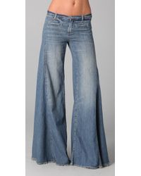 Free People | Blue Extreme Flare Jeans | Lyst