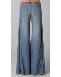 Free People - Blue Extreme Flare Jeans - Lyst