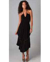 Marc By Marc Jacobs | Black Lurex Piped 70s Disco Dress | Lyst