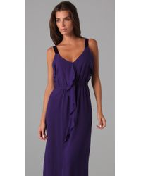 Rebecca Taylor   Purple True Love Gown with Ruffle   Lyst