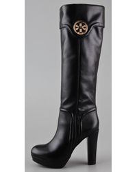 Tory Burch - Black Selma Platform Boots - Lyst