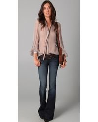 Winter Kate - Green Ruby Grace Blouse in Olive/wheat - Lyst