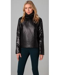 Cheap Monday | Black Pullover Puffer Jacket | Lyst