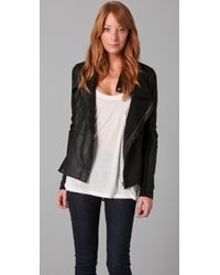 VEDA | Black Stevie Leather Jacket | Lyst