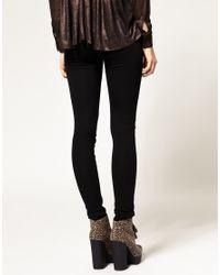 ASOS | Black Wet Look Front Ponti Leggings | Lyst