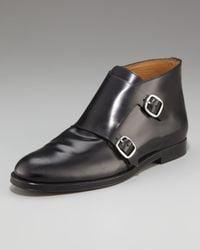 Jimmy Choo   Black Double Monk-strap Boot for Men   Lyst