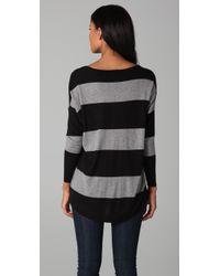 Joie - Black Cheyenne Striped Sweater - Lyst