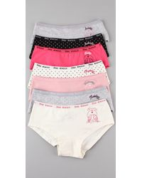 Juicy Couture | Multicolor Days Of The Week Boy Short Set | Lyst