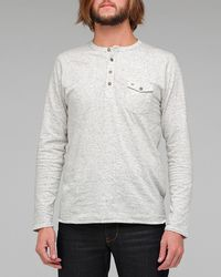 Obey | White Speckled Henley for Men | Lyst