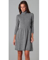 Shoshanna | Gray Turtleneck Sweater Dress | Lyst