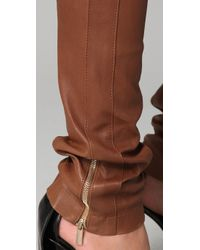 Temperley London - Brown Latino Leather Trousers - Lyst