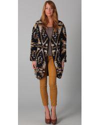 Textile Elizabeth and James - Brown Dakota Sweater Jacket - Lyst
