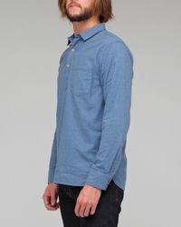 YMC - Blue Pullover Chambray Shirt for Men - Lyst