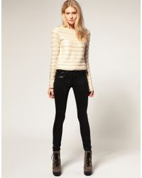 ASOS Collection - Asos Wet Look Black Skinny Jeans - Lyst