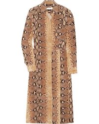 Chloé | Brown Python-print Silk Dress | Lyst
