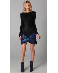 Jen Kao | Blue Fringe Skirt | Lyst