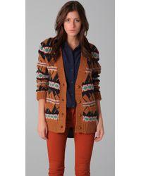 Le Mont St Michel | Brown Knit Cardigan Jacket | Lyst