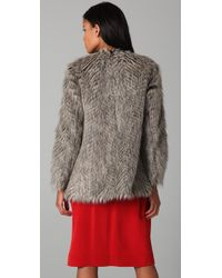 Marc By Marc Jacobs | Brown Rickie Faux Fur Jacket | Lyst