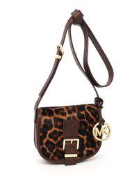 MICHAEL Michael Kors | Multicolor Small Saddle Bag Messenger, Leopard-print | Lyst
