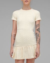 Opening Ceremony - Natural Dropped Ruffled T-shirt Dress - Lyst