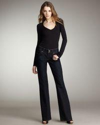 PAIGE | Blue Hidden Hills Memphis High-waist Jeans | Lyst