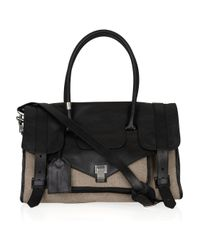 Proenza Schouler | Natural Medium Ps1 Travel Leather and Felt Tote | Lyst
