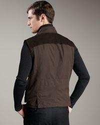 Ralph Lauren Black Label Brown Modern Taffeta Vest for men
