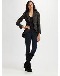 Smythe | Black Tweed Riding Jacket | Lyst