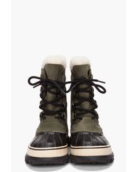 Sorel - Green Womens Caribou Boot - Lyst