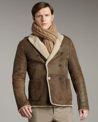 Valentino | Brown Shearling Jacket for Men | Lyst