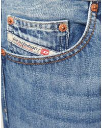 DIESEL - Blue Diesel Larkee 73p Straight Jeans for Men - Lyst