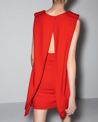 Alexander McQueen | Orange Cape-back Belted Dress | Lyst