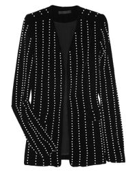Alexander Wang | Black Pearl-embellished Velvet Jacket | Lyst