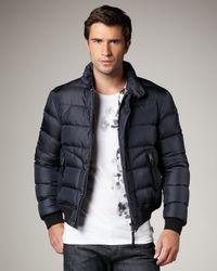 Burberry Brit - Blue Puffer Jacket, Navy for Men - Lyst