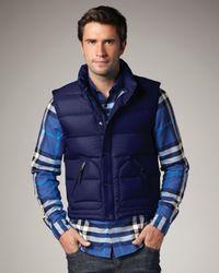 Burberry Brit | Blue Puffer Vest for Men | Lyst