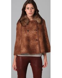 Dallin Chase | Brown Campbell Shearling Cape | Lyst