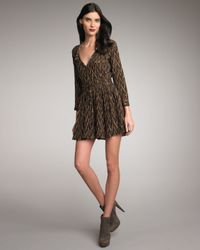 Elizabeth and James | Brown Paulina Printed Dress | Lyst