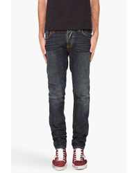 Nudie Jeans | Blue Grim Tim Brown Weft Jeans for Men | Lyst