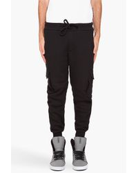 Shades of Grey by Micah Cohen | Black Cargo Sweatpants for Men | Lyst