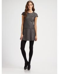 Theory   Gray Olpia Metallic Sparkle Tweed Dress   Lyst