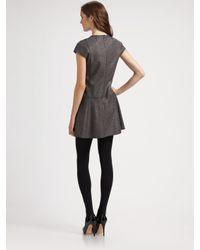 Theory | Gray Olpia Metallic Sparkle Tweed Dress | Lyst