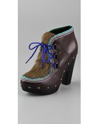 Belle By Sigerson Morrison | Brown Eskimo Clog Booties | Lyst